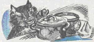 Притча о Молочке, овсяной Кашке и сером котишке Мурке - Алёнушкины сказки - Сказка Мамин-Сибиряк Д.Н. Рис. 1